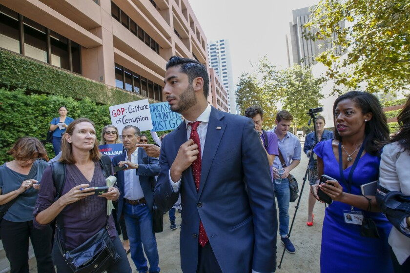 Ammar Campa-Najjar was the lone Democrat to challenge Duncan Hunter in the 50th Congressional District last year.