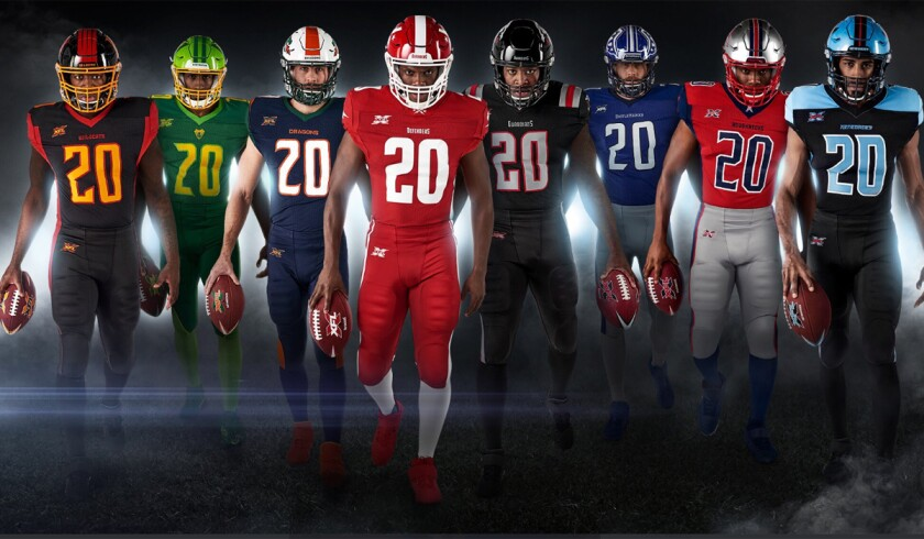 The XFL revealed the helmets and uniforms for its eight teams this week.