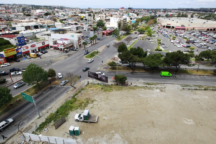This empty lot is the site for the Cosmopolitan Group's City Center development in the Zona Rio area of Tijuana, Baja California, Mexico on Wednesday in Mexico. The multi-use development will begin construction in about three months.