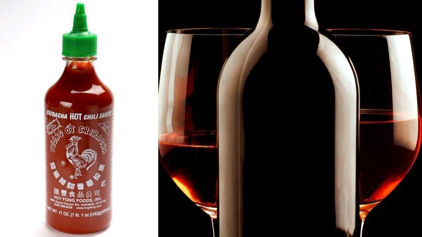 Sriracha wine tasting