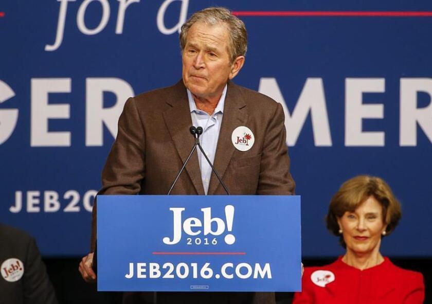 El expresidente estadounidense George W. Bush ofrece un discurso. EFE/Archivo