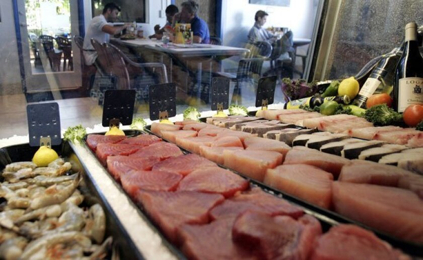 Blue Water Seafood Market and Grill, which made San Diego Coastkeeper's sustainable seafood restaurant list.