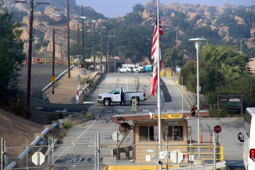 Fire truck at Santa Susana Field Lab