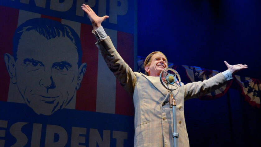 """The Berkeley Rep's David Kelly as American dictator Buzz Windrip in """"It Can't Happen Here."""""""