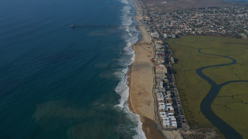 The sand replenishment project in Imperial Beach has made a dramatic impact on the width of the beach south of the pier.