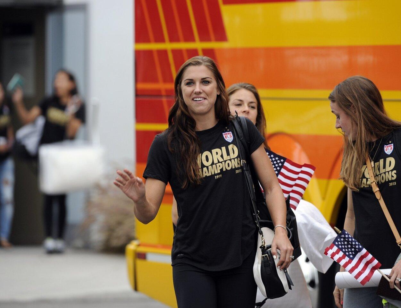 Las campeoneas ya están en Los Angeles para el desfile en L.A. este martes.