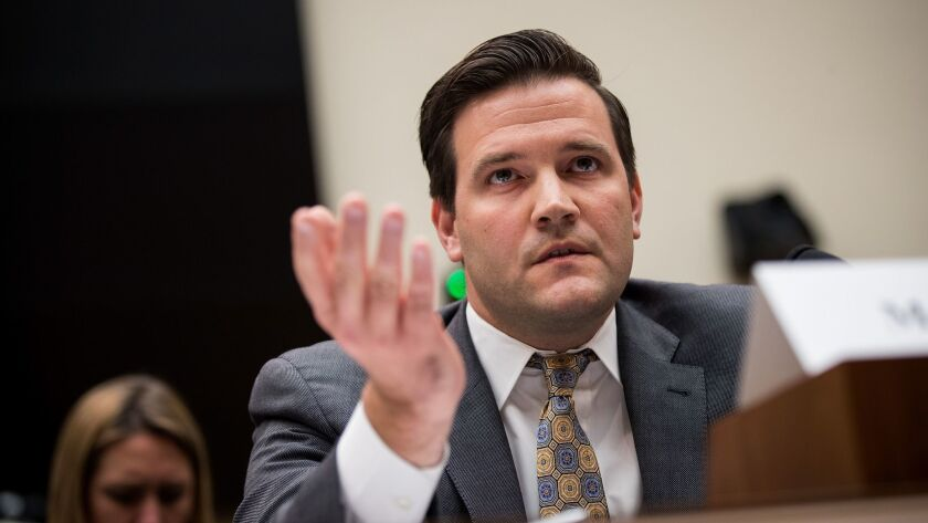 E. Scott Lloyd, who heads the Trump administration's refugee office, testifies during a House Judiciary Committee hearing in October.