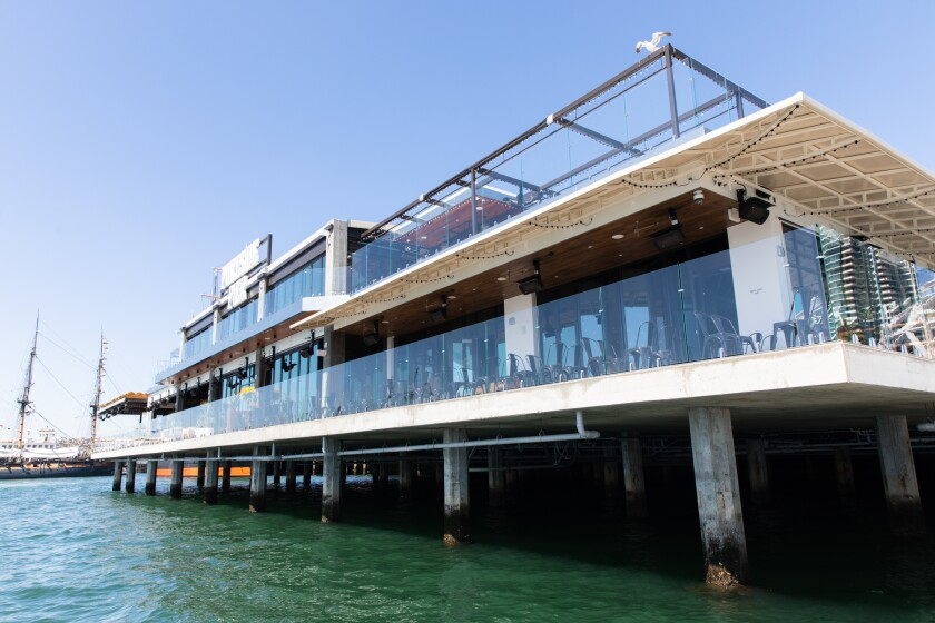 Portside Pier was designed with plenty of glass to take advantage of water vistas.
