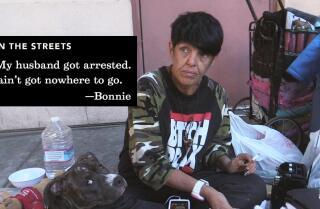 One homeless woman's hustle outside the world's largest jail