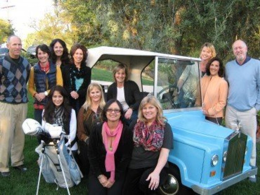 """Volunteers are preparing for the 9th Annual """"Tee It Up For Foster Teens"""" golf tournament. Pictured in back row are Billy Berger, Judy Roberts, Teri Summerhays, Jennifer Dunn, Mickey Burgess, Karen Ventura, Ann Boon and Dave Scherer. Pictured in front row are Andrea Reynolds, Joan Scott, Lois Jones"""