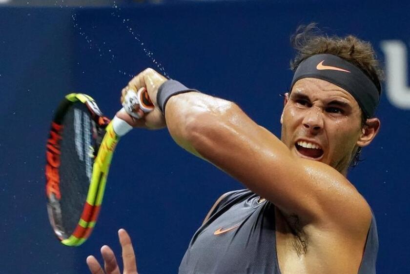El español Rafael Nadal, número uno del ránking mundial, encabeza la lista de jugadores del Abierto Mexicano de Tenis, torneo categoría 500 de la ATP, que se jugará en Acapulco del 25 de febrero al 2 de marzo próximos. EFE/Archivo