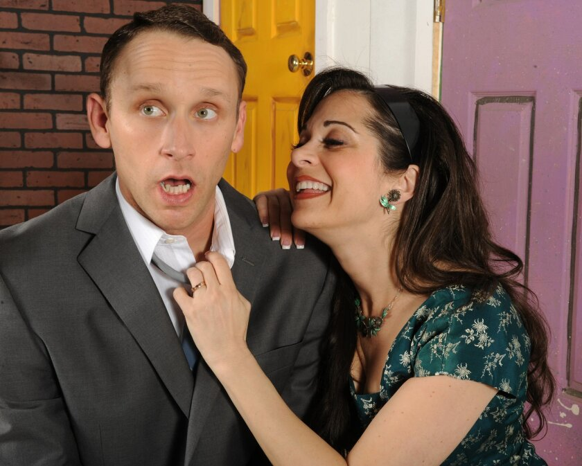 """Moonlight Stage Productions' """"Barefoot in the Park"""" stars Jason Maddy and Jessica John. Ken Jacques"""