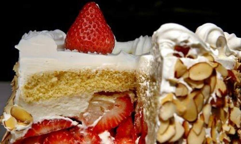 Phoenix bakery's strawberry cake.
