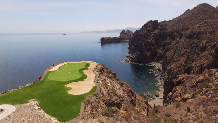 The par-3 17th hole at Danzante Bay in Loreto, Mexico, is already making the new course famous.