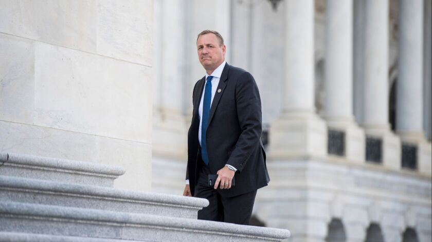 Rep. Jeff Denham of Turlock, shown in April, was among the moderate Republicans leading the effort to force a vote on immigration bills.