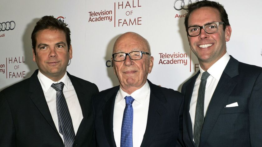 Rupert Murdoch, Lachlan Murdoch, James Murdoch