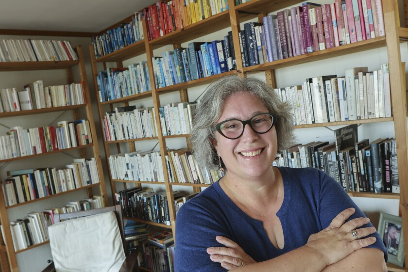Marianne Reiner of Ocean Beach, owner of the Run for Cover bookstore