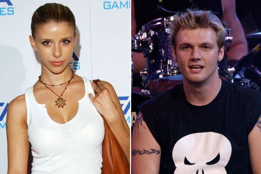 Singer/actress Melissa Schuman (L) attends the 'EA Games' on November 7, 2002 in Los Angeles. Singer Nick Carter (R) performs at KIIS FM's Jingle Ball on December 19, 2002. Prosecutors said Tuesday they won't pursue sex assault charges after Schuman accused Carter of 2003 rape.