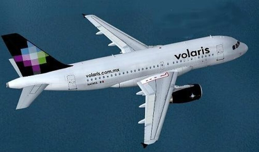 Volaris Airlines of Mexico begins service to Mexico City and Guadalajara from San Diego on July 15, 2011.