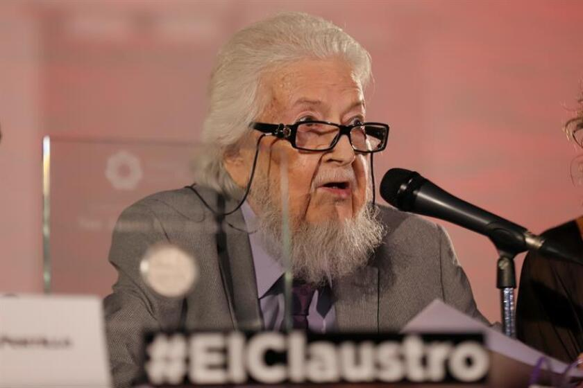 File photo taken on March 1, 2018 at the Cabañas Cultural Institute: Distinguished Mexican writer Fernando del Paso died here Wednesday, his family told EFE. He was 83. EPA/EFE/Carlos Zepeda/FILE