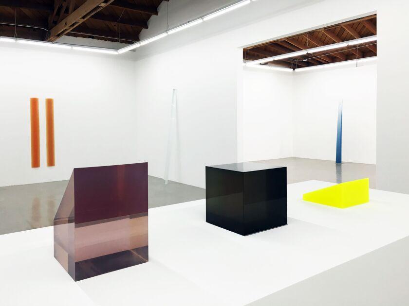 Alexander's resin sculptures were surveyed in a 2016 show at Parrasch Heijnen Gallery.