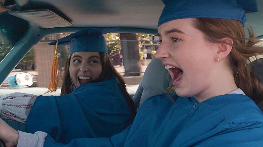 """Beanie Feldstein, left, and Kaitlyn Dever in """"Booksmart."""""""