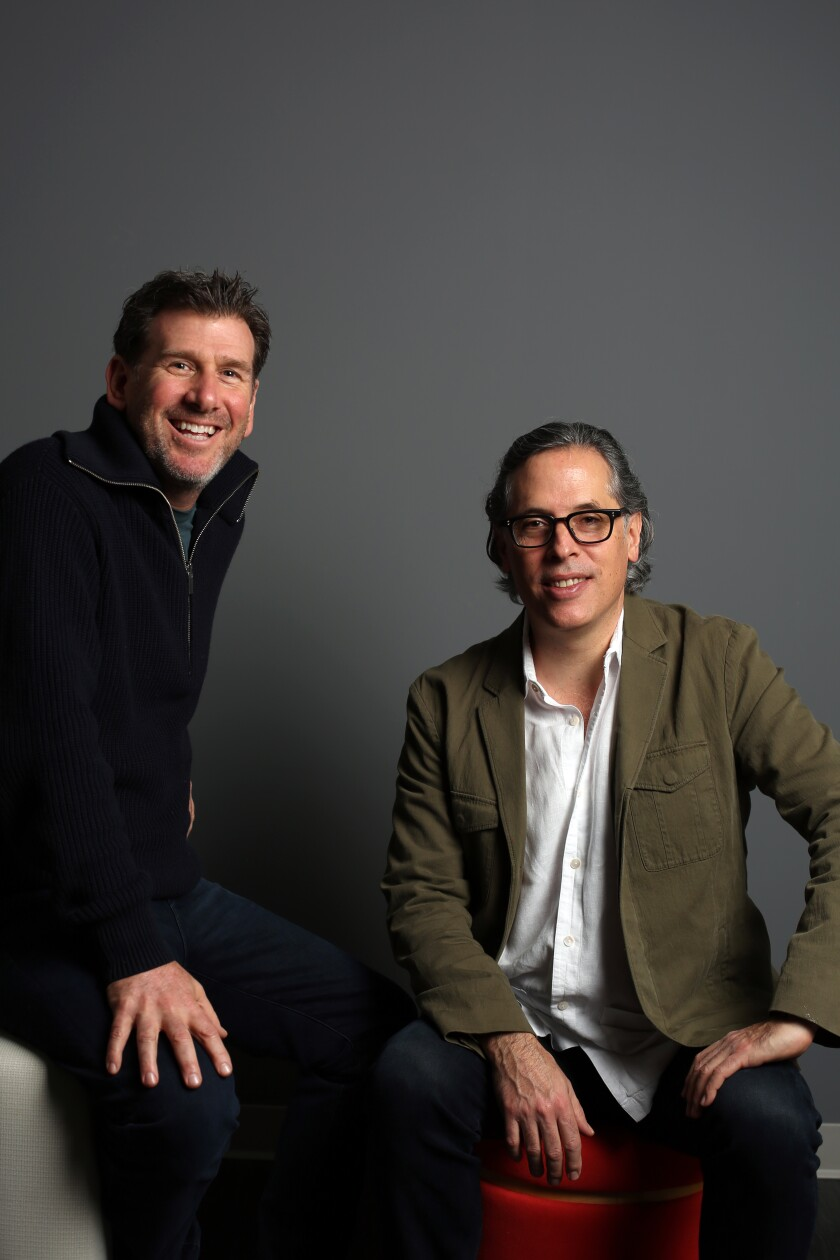 Cinematographers Lawrence Sher, left, and Rodrigo Prieto