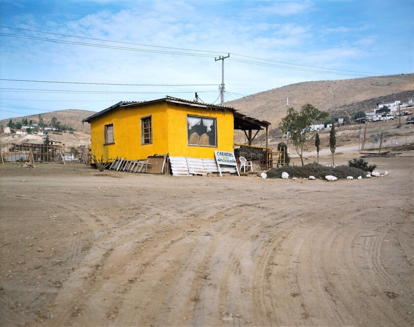 A Tijuana house that was built in San Diego.