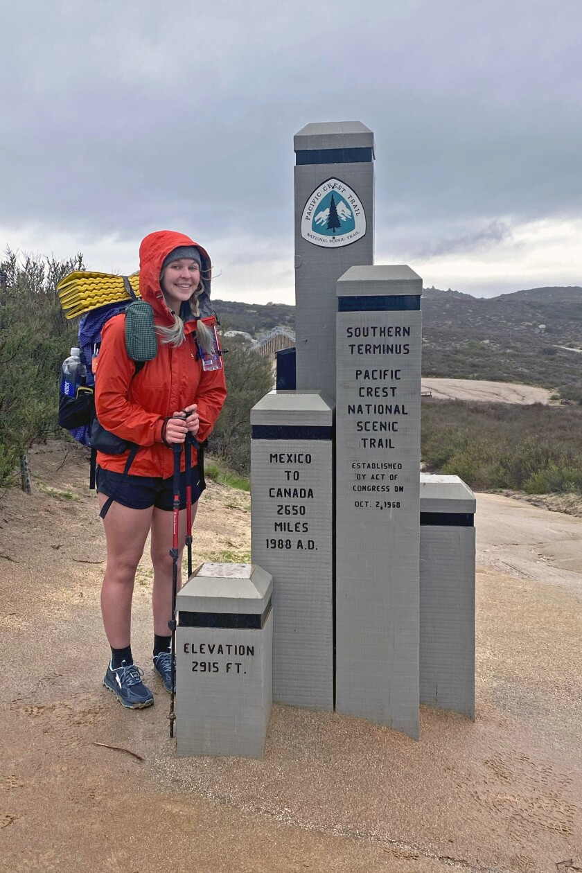 Hiker Taylor Frint started the Pacific Crest Trail last week, then stopped when warnings were issued.