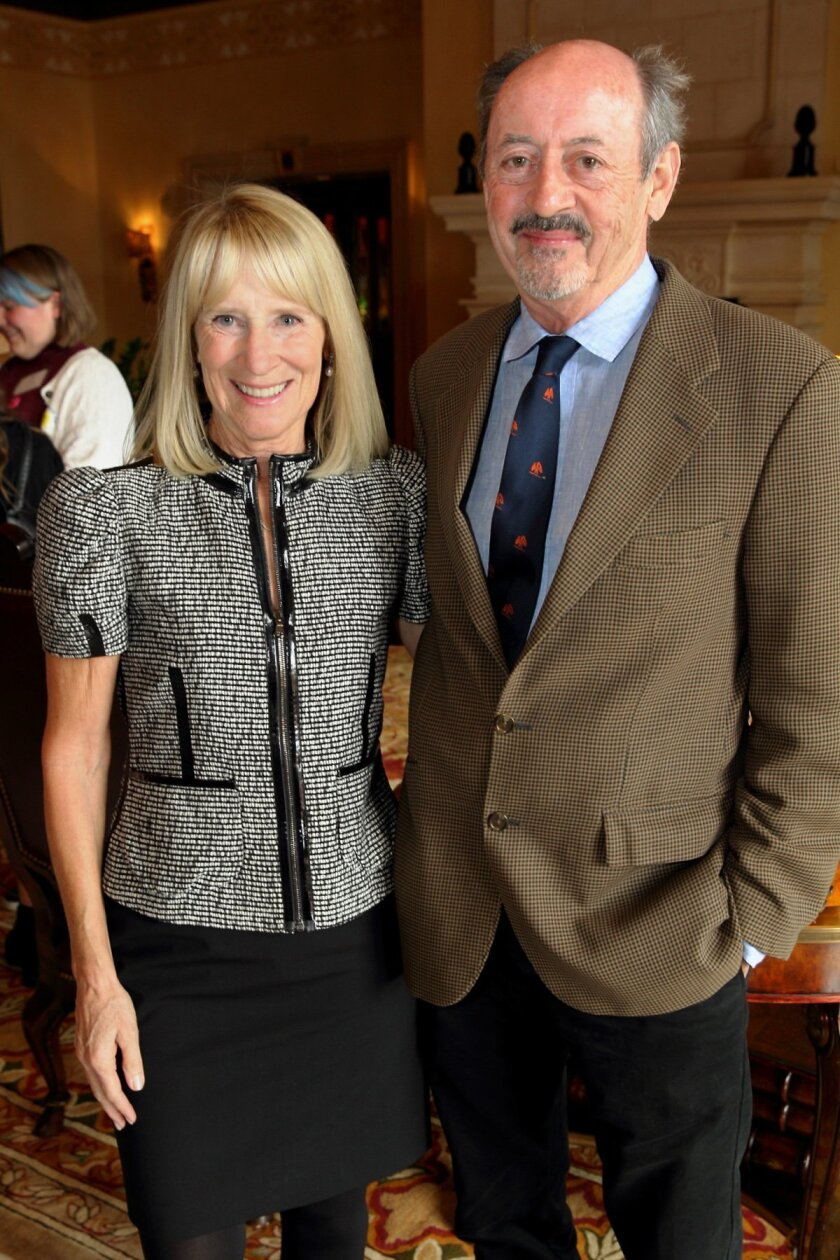 Candace Humber with poet Billy Collins.