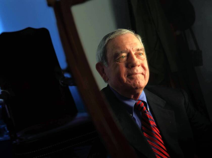 """Journalist Dan Rather has a new book titled """"Rather Outspoken."""""""