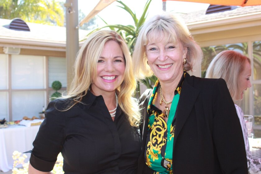 Maureen Weber (underwriting chair) and Diane Bell