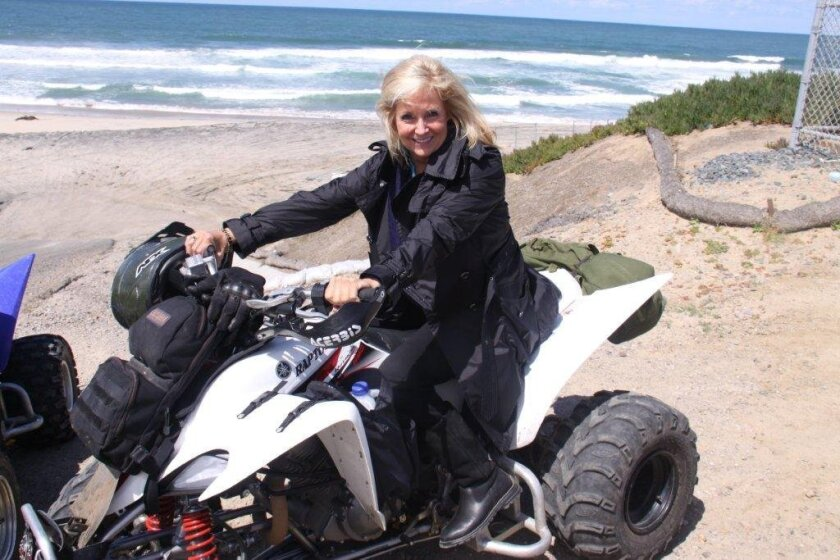 Nancy Gardner is seen near the international border, where she went on a ride-along with FBI agents.