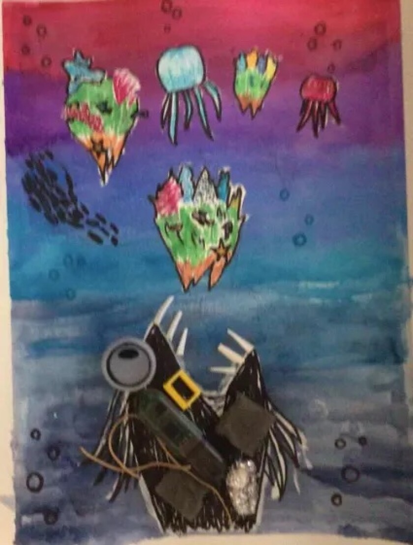 Solana Pacific fifth grader Gabriela Morillo's art was selected to be featured on a utility box downtown.