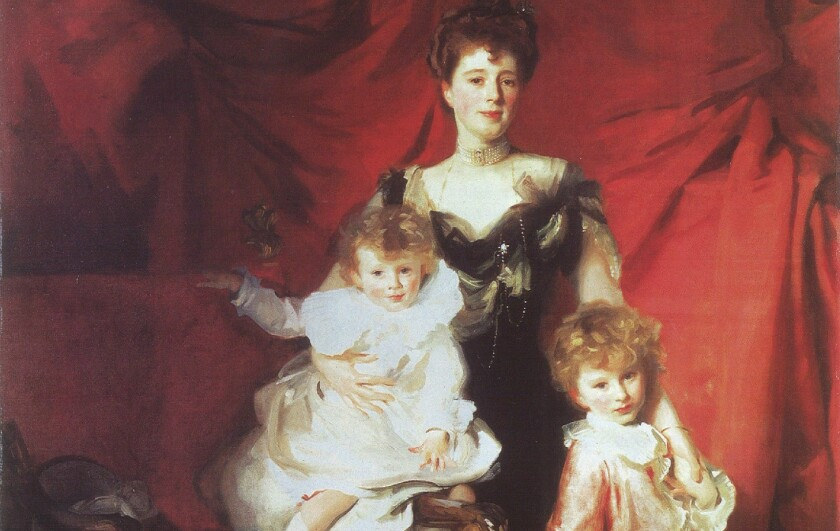 "A detail of John Singer Sargent's painting ""Mrs. Cazalet and Children Edward and Victor,"" which dates from around 1900 to 1901."