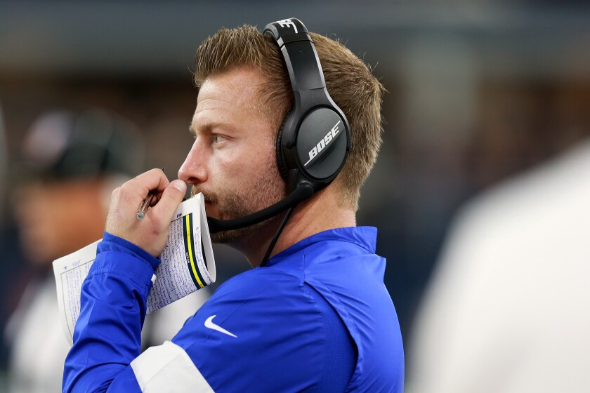 Rams coach Sean McVay