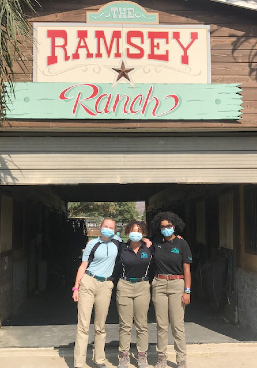 From left, Leilani Kwak of Wynola, Emme Chisholm and Macy Chisholm of Ramona recently competed in a U.S. Pony Club exam.