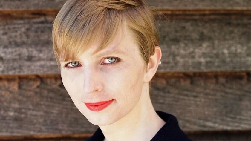 epa05973214 A handout photo made available on 18 May 2017 of former US Army Private Chelsea Manning