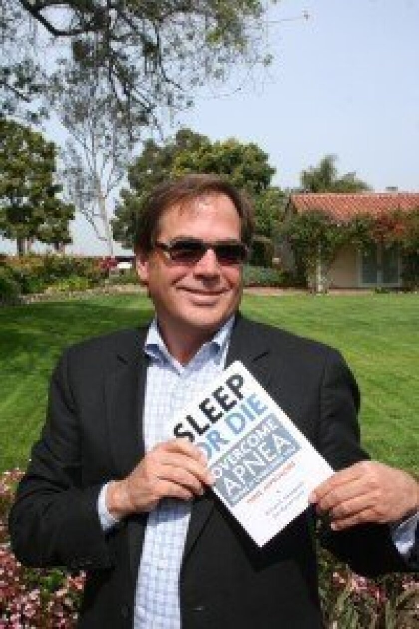 "Rancho Santa Fe's William Headapohl works as a sleep coach and wrote the book ""Sleep or Die."" Photo/Karen Billing"