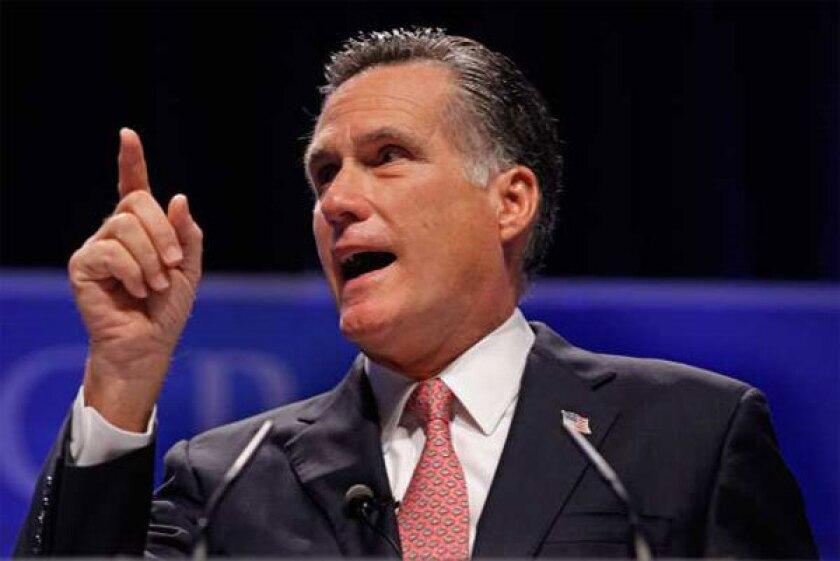 Republican presidential candidate Mitt Romney.