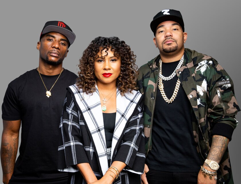 "Charlamagne tha God, Angela Yee and DJ Envy have co-hosted ""The Breakfast Club"" since 2010."