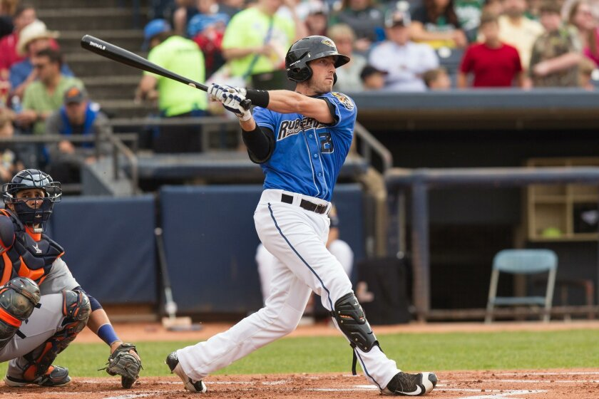 Taylor Murphy plays with the AA Akron RubberDucks.