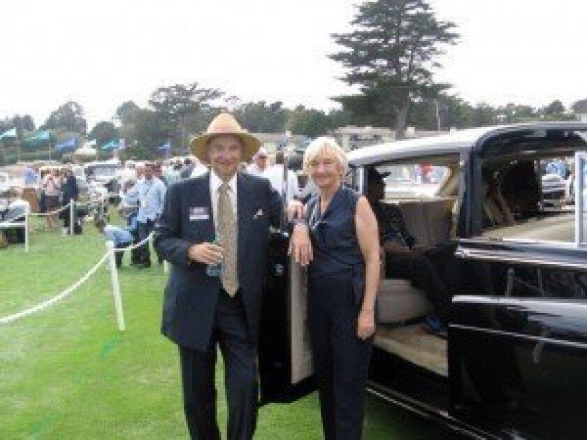 Ken and Ann Smith with their Rolls-Royce Phantom V Sedanca de Ville at the Pebble Beach Concours. Courtesy photos
