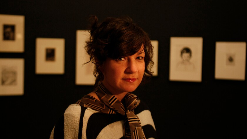 Artist Frances Stark, a tenured professor who left Roski in 2014 — at the Hammer Museum in 2010.