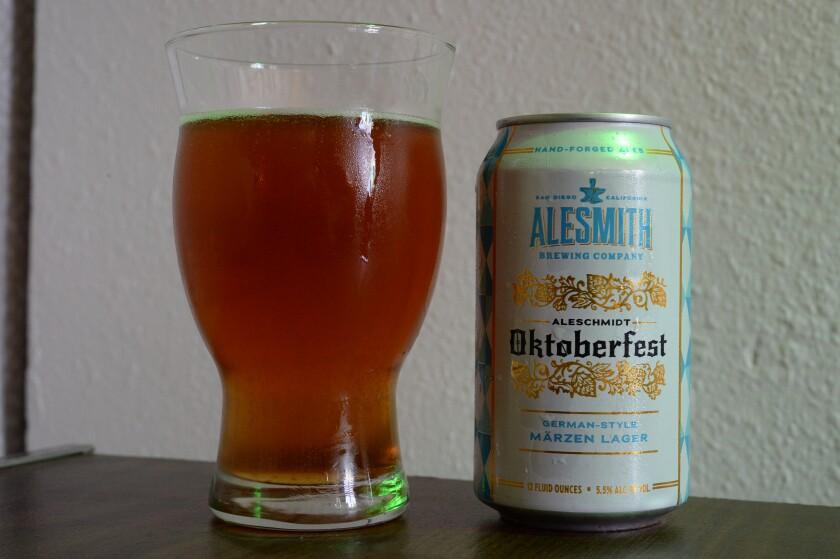 AleSmith's AleSchmidt Oktoberfest, a German-style Märzen Lager.