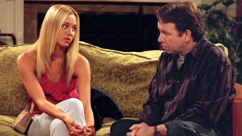 "Kaley Cuoco and John Ritter star in ""8 Simple Rules for Dating My Teenage Daughter."""