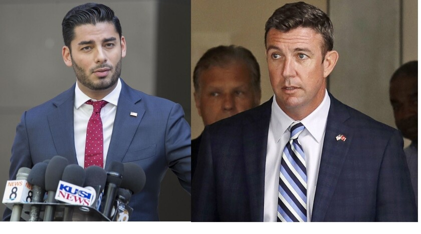 Ammar Campa-Najjar, left, and Duncan Hunter, right.