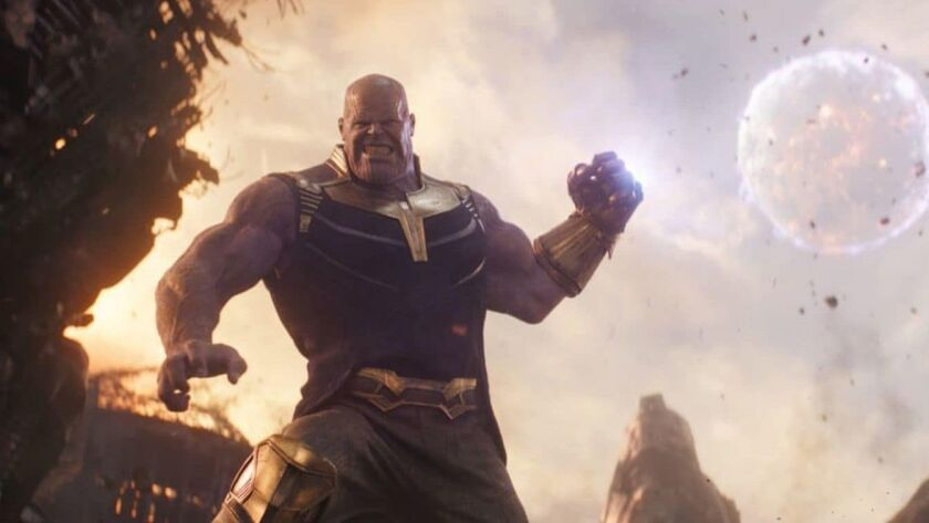 """Thanos, as played by Josh Brolin, appears in """"Avengers: Infinity War."""""""