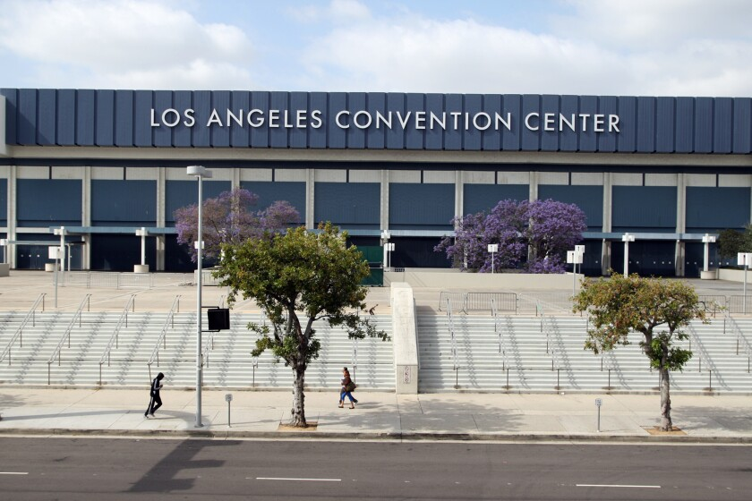 The L.A. City Council is moving ahead with an alternative plan for the Convention Center. Above, the center's West Hall.