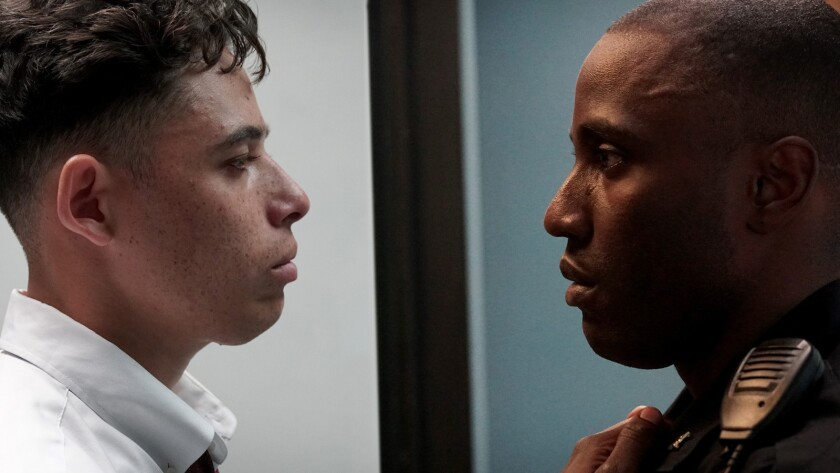 """Anthony Ramos, left, and John David Washington in """"Monsters and Men."""""""